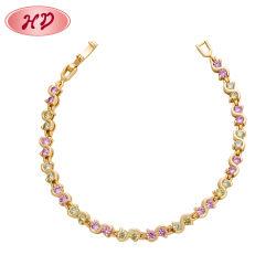 Jóias de cobre de Cristal Senhoras Gold pulseiras para Desgaste de casamento