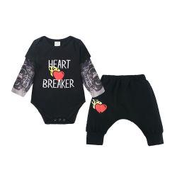 2PCS calças de vestuário para bebé Romper Definir Suits recém-nascido roupas definido