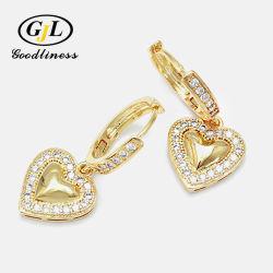 لطيف جميلة قلب محاجر الحب قلب تدلية قطرات المحاجر كما أزياء نسائية أفضل هدية