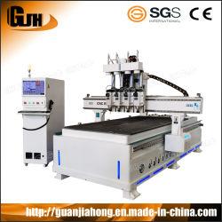 4-Process ATC 1325 MDF houtboard Cutting CNC router machine, paneelmeubels Houtbewerking CNC router