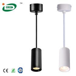 4-10 Watt réglable GU10 à l'intérieur du vérin d'accueil pendaison Blanc Noir LED Lampes de poignée de commande du tube