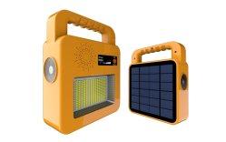 100W Solar-Taschenlampe im Freien mit Bluetooth Lautsprecher Taschenlampe Arbeit Notfall Licht