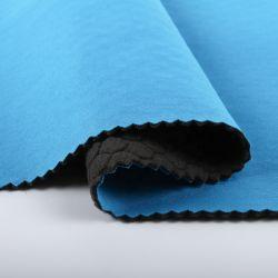 Tessuto del poliestere preannunciato Knit Stretchable liscio molle eccellente della Jersey dello Spandex di legame del feltro poli da vendere