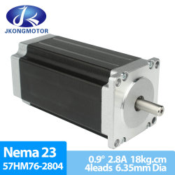 محرك NEMA 23 Hybrid DC Gear CNC Stepper Motor بقدرة عالية كهربائية تبلغ 1.8 درجة 57 مم 0.48-3n. م
