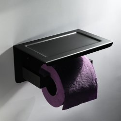 Os acessórios de banho de aço inoxidável titular de toalha de papel higiénico preto