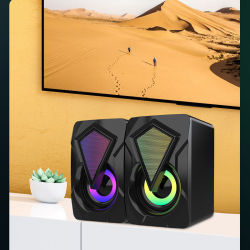 Mini PC Home Theater Sound USB Music Player alto-falante