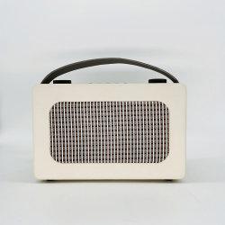 Retro haut-parleur Bluetooth sans fil portable en bois avec micro