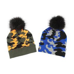 새로운 형식 겨울 Camo 자카드 직물 눈 베레모 모자 모자