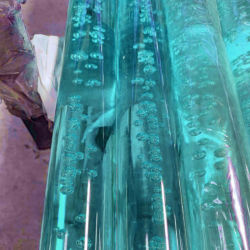 Оптовая торговля Custom акриловый прозрачной голубой Lucite твердых круглый купол стержень красочные PMMA Plexiglass бар
