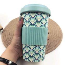 Caneca de café de fibra de bambu com tampa de vedação estanque e Orifício Zero-Waste SIP