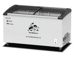 398L カーブドガラスドアチェストフリーザー市販デュアルカーブスライド ガラスドアチェストアイスクリームディスプレイ冷蔵庫冷凍庫販売用 (SDX-398)