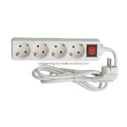 Jm0004A- 4 (4*16A) Methoden-Deutschland-Typ Extensions-mehrfache geschaltene elektrische Kontaktbuchse