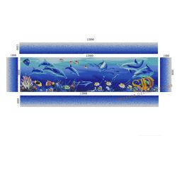 De mooie OceaanPatronen van het Mozaïek van het Glas van het Zwembad van het Werk van de Kunst van de Muurschildering van Vissen en van de Dolfijn