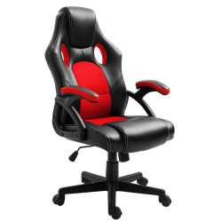 높은 뒤 인간 환경 공학 조정가능한 경주 의자, 업무 회전대 행정상 컴퓨터 의자, 가죽 책상 도박 의자