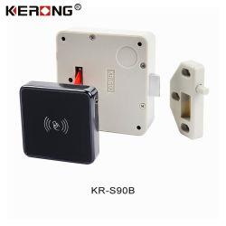 Nuevo diseño eléctrico KERONG Smart Panel RFID Seguridad muebles Bluetooth sin llave de bloqueo del Gabinete para las pequeñas cajas de madera