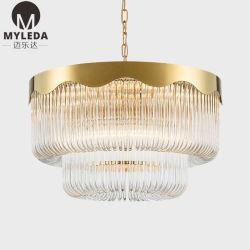 装飾的な芸術デザインインテリア・デザインのガラスストリップの装飾的な天井のペンダント灯