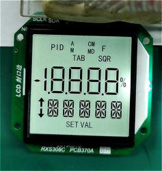 OEM Custom petites STN Tn Htn FSTN Angle de visualisation plein écran LCD de l'indicateur 7 segments