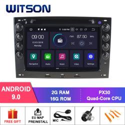 Speler van Bluetooth van de Radio van Auto 9.0 van Witson de Androïde voor AudioGPS van het Voertuig van Renault Megane 2003-2008 Multimedia
