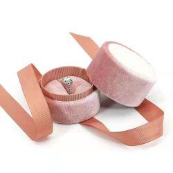 Ronda de regalo de cartón de embalaje papel Anillo de joyas de verificación