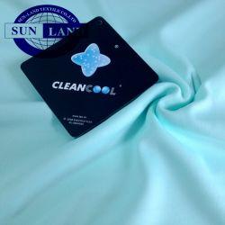 Custom Antibakterielle Unterwäsche Soft Polyester Nano Silber Ion Cleancool Interlock Stoff