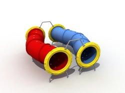 Vergnügungspark scherzt Spielzeug-Kind-Spielplatz-Geräten-im Freien kletternden Tunnel für Wd-101652