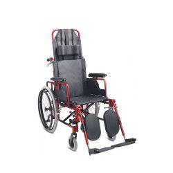 건강한 배려 제품 세륨에 의하여 증명서를 주는 알루미늄 기대는 Foldable 휠체어