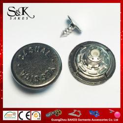 カスタムブランドによって刻まれるロゴの金属亜鉛合金のシャンク・ボタン