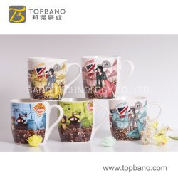 Tasse à café en céramique populaire pour la cuvette de cadeau de promotion de la Chine