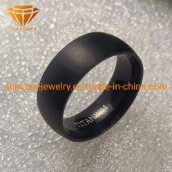 Usine de gros anneau de titane noir titane tungstène de la bande l'anneau de mariage de tungstène TR1996