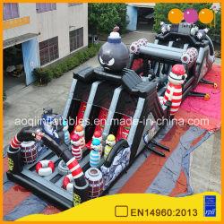 Juego de atracciones inflables Cannon Carrera de obstáculos para el entretenimiento de la casa (AQ01815)