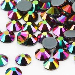 Rhinestone di cristallo di Hotfix di scambio di calore dell'oro metallico di Kingswick 5A per i Leotards della concorrenza dei vestiti