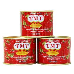 70G, 210G, 400G 2200G, 4500g la pâte de tomate en étain et de la pâte de tomate en conserve