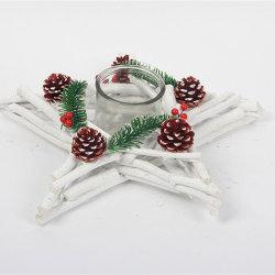 Сторона подает оптовой деревянный декор деревянный держатель при свечах на Рождество оформление