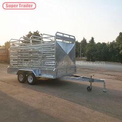 La caja de la jaula de ganado vacuno Tráiler Hot-Dipped malla de acero galvanizado