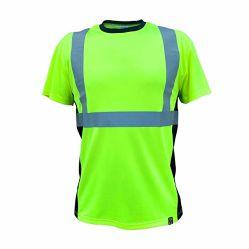 トラフィックの管理のWorkwearの高く軽い蛍光ReflectieのTシャツ
