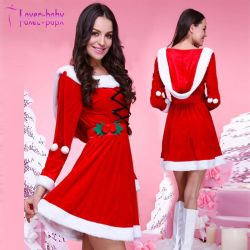 Sexy femmes adultes Santa Claus cosplay costume