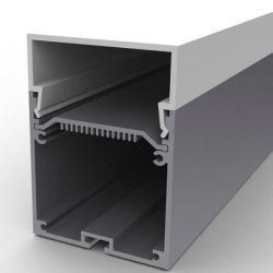 Argento espulsione di alluminio di rifinitura anodizzata di profilo dei 6063 LED per l'indicatore luminoso di striscia del LED