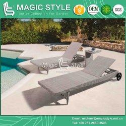 Для использования вне помещений плетеной Sunlounger плетеной плетеной кушеткой Garden обставлены плетеной солнечная терраса удобный холл плетеной мебелью таблицы кофе