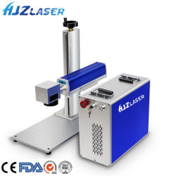 플라스틱 금속에 번호찍기 코딩을 인쇄하는 펜 로고를 위한 휴대용 소형 금속 섬유 Laser 마커 Laser 표하기 조각 에칭 Laser 기계