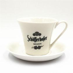 Insieme di caffè europeo di ceramica del caffè espresso della tazza e del piattino di caffè di Dumbbell