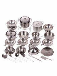 Acero inoxidable para niños utensilios de cocina cocinar los alimentos para bebé niña Hogar Cocina Set de juguetes