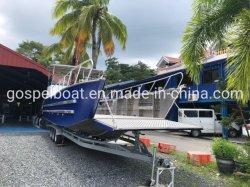 O trabalho de alumínio de aterragem de barco de recreio barcaça de Carga