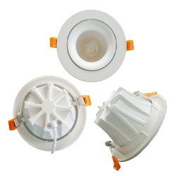 90lm/W 7W justierbarer Dimmable vertiefter LED Decken-Scheinwerfer des Punkt-Licht-10W 15W