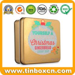 Luxuxseifen-Zinn des metall100g/3.5oz mit goldenem Drucken für Kosmetik