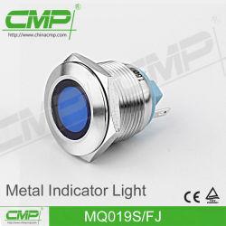 luz de indicador do diodo emissor de luz do metal de 19mm vermelha, verde, amarelo, azul, branco