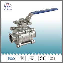위생적인 스테인리스 스틸 SS304/SS316L 위생 비고정 3PCS 볼 밸브 및 글로브 밸브