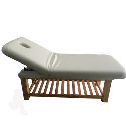 マッサージの純木のマッサージの革ベッドのマッサージのベッドのFoldable調節可能なベッド