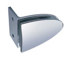 Durable de metal Cristal Ducha Clip de pinza de conexión