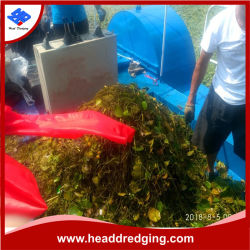 Maleza acuática el jacinto de agua de la cosechadora/cortar/Barco Barco de recogida de basura flotante
