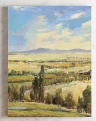 Het Olieverfschilderij van het landschap voor het Art. van de Muur